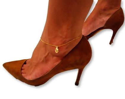 צמיד זהב 14K לקרסול , לרגל יוקרתי ואיכותי לגבר או לאישה