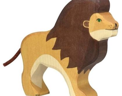 HOLZTIGER אריה עשוי מעץ מייפל