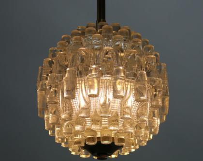 מנורת ארט דקו קריסטלית, מנורת קריסטל וינטג׳ איטלקית