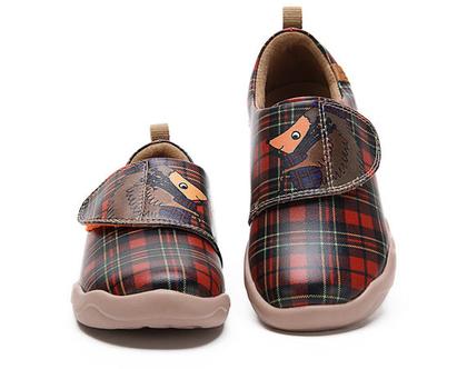 נעלי בד לילדים טבעוניות אופנתיות מודפסות דגם קיפוד מיוחדים ונוחים לגן ולשנת הלימודים