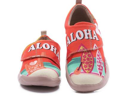 נעלי בד לילדים טבעוניות אופנתיות מודפסות מיוחדות נוח לגן ולשנת הלימודים