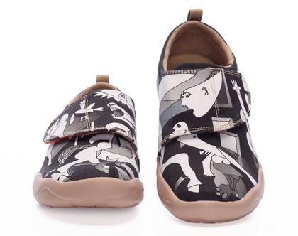 נעלי בד לילדים טבעוניות אופנתיות מודפסות ומיוחדות נוח לגן ולשנת הלימודים