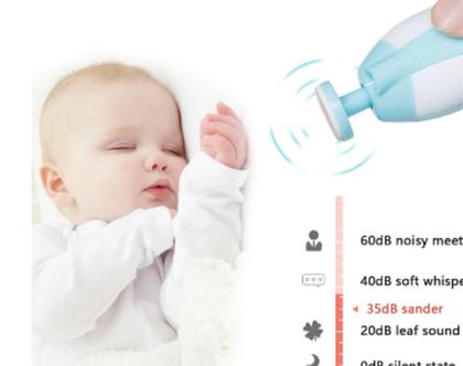 גוזז ציפורניים חשמלי לתינוקות, גוזם ציפורניים לניקוי ,מניקור ,פדיקור, מספריים לתינוקות