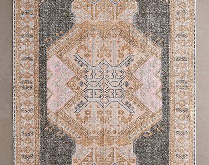 שטיח ורדרד משופשף בסגנון וינטאג׳