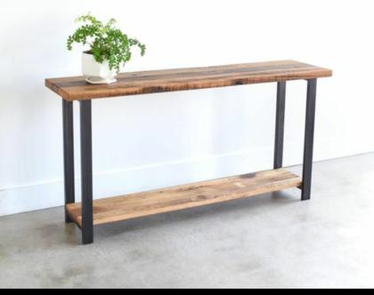 קונסולה מעוצבת עץ וברזל KO2