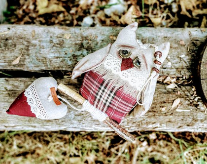 בובה ינשוף/ בובה לתליה/ ינשוף דקורטיבי לתליה/ ינשוף לעיצוב הבית