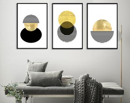 הדפסים בעיצוב אבסטרקטי |עיצוב נורדי| סט תמונות בעיצוב מינימליסטי | תמונות לסלון | תמונות לעיצוב המשרד