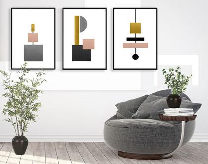 הדפסים בעיצוב נורדי |עיצוב מקורי| סט תמונות בעיצוב מינימליסטי | תמונות לסלון | תמונות לעיצוב המשרד