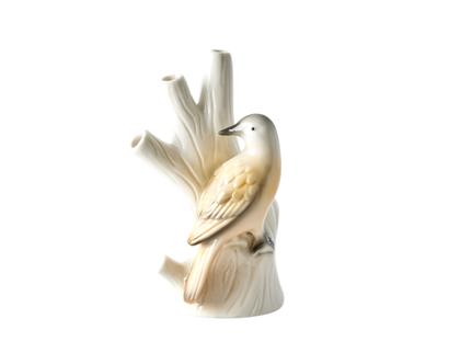 אגרטל קרמיקה ציפור על ענף בצבע משמש| RICE DK | SOFI