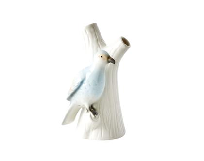אגרטל קרמיקה ציפור על ענף בצבע תכלת| RICE DK | SOFI