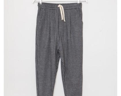 מכנסי באגי שרוך, מכנסי פסים, מכנסי חורף, מכנסיים שחורים, מכנסיים אפורים