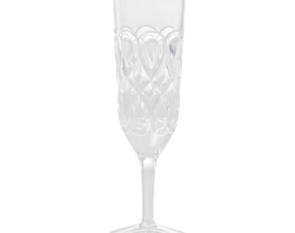 כוס שמפנייה אקריליק עיטורים שקופה | RICE DK