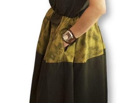 שמלת Autumn משי/כותנה