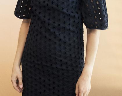 שמלת כותנה רקומה