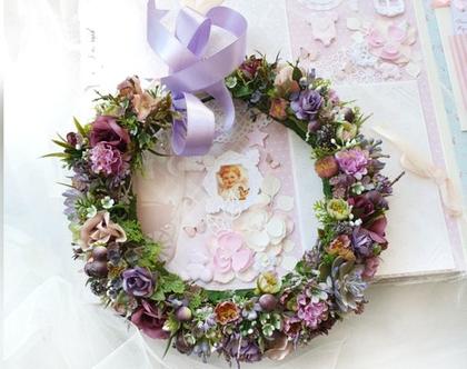 זר לראש מפרחים מלאכותיים | קשת לשיער | פרחים לבנים| פרחי משי | פרחים מלאכותיים | זר פרחים | קשת פרחים לראשקשת לשיער| זר לראש