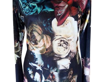 חולצת קטיפה פרחונית