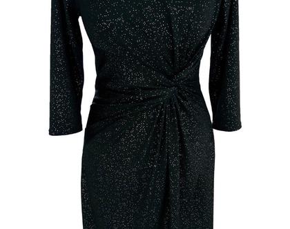 שמלת טוויסט שחור וזהב