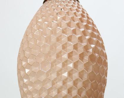 מנורת כוורת וינטאג׳ ורודה