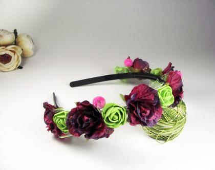 קשת פרחים לראש, זר פרחים לראש, זר למסיבת רווקות, זר יום הולדת לראש