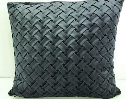 כרית קטיפה בצבע טורקיז כהה