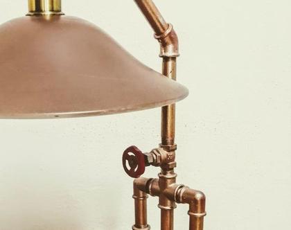מנורת שולחן/ מנורה בסגנון Stimpank/ מנורה בדממה