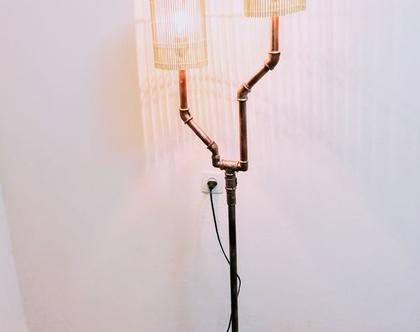 מנורת רצפה/ מנורה בסגנון Stimpank
