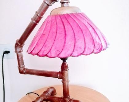 מנורת שולחן/ מנורת אהיל/ מנורה בסגנון Stimpank