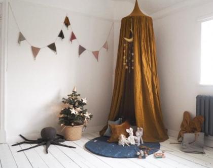 שרשרת דגלונים לחדר ילדים | שרשרת דגלים | Numero 74 | דגלונים לחדר | שרשרת דגלונים