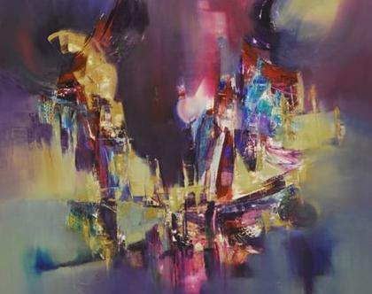 """אומנות , ציור מקורי אומנית ארגנטינית """"IN CASE OF A DREAM """""""