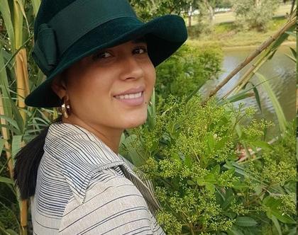כובע חורפי, כובע לנשים, כובע וינטג', כובע רשמי, כובע ירוק כהה, כובע קטן, כובע קלאסי, כובע צמר, כובע לאירוע, כובע לדתיות