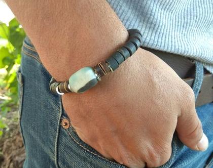 צמיד עוצמתי לגבר אמזונייט ופיריט powerfull bracelets