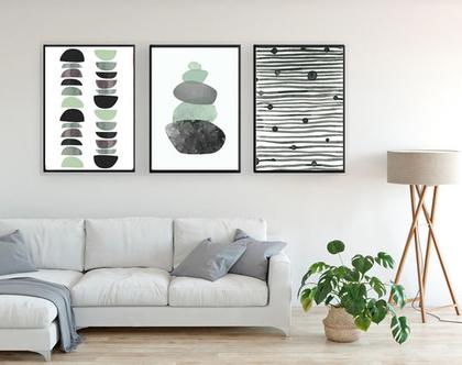 הדפסים בעיצוב נורדי - עיצוב מקורי |עיצוב נורדי| סט תמונות בעיצוב מינימליסטי | תמונות לסלון | תמונות לעיצוב המשרד