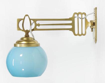 זוג מנורות קיר ארט דקו תכולות, מנורות ברונזה, מנורות לילה מוזהבות