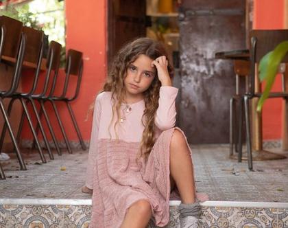 שמלת קומות לילדה , נטלי ורודה
