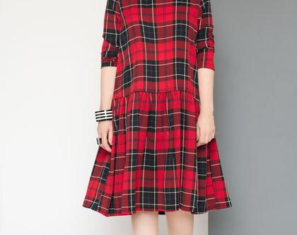 שמלת משבצת / דורית שדה