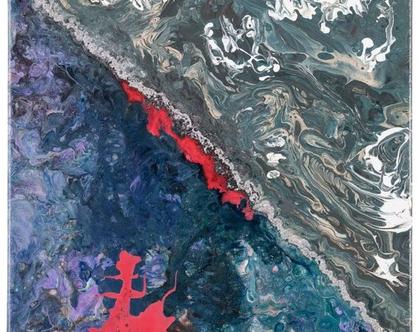החוף  צבע אקרילי 40X0. בד 8564