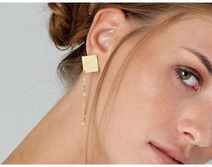 עגילי צדף- זהב, עגילים יפים, מיוחדים וכל כך מחמיאים