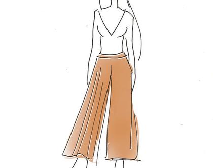 מכנס פליסה א-סימטרי