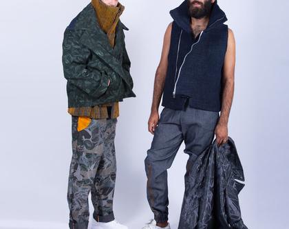 ווסט לגבר מבד ג׳ינס / vest