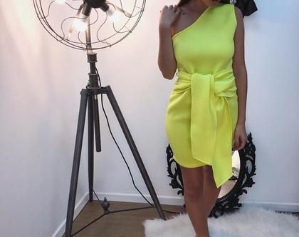 שמלה 'בל ' - צהוב - 50%!!