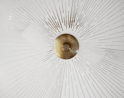 נברשת ארט דקו, מנורת תקרה וינטאג׳ שטוחה, מנורת תקרה אר דקו