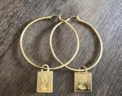 חישוק זהב מאט מטבע - 20%