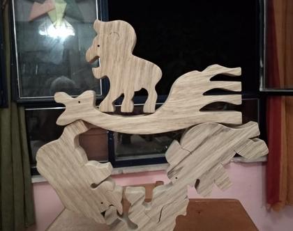 פירמידת החיות פאזל עץ