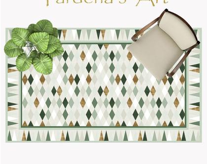 שטיח פי.וי.סי - Scandinavian-3 | | שטיח בעיצוב מקורי | שטיח פי.וי.סי בעיצוב סקנדינבי| שטיח פיויסי למטבח | שטיח בעיצוב נורדי