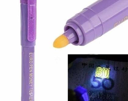 עט לבדיקת שטרות מזויפים עם פנס UV