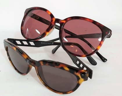 זוג משקפי וינט'ג לנשים.. אחד מהם משקפי PROPHILO ח'ב איטלקית משקפי וינט'ג לנשים