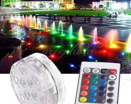 תאורת LED עם שלט עמידה במים ומשנה צבעים