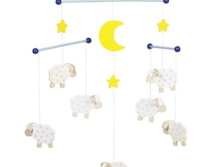 GOKI מובייל כבשים לחדר תינוקות ובכלל 52951