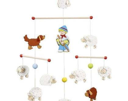 GOKI מובייל כבשים ורועה לחדר ילדים 52922