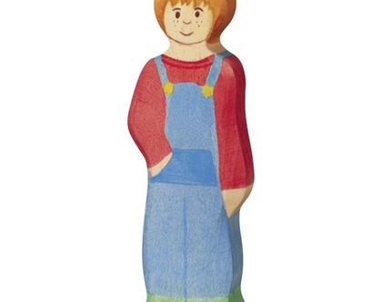 HOLZTIGER ילד עשוי מעץ מייפל ברוח וולדורף 80549